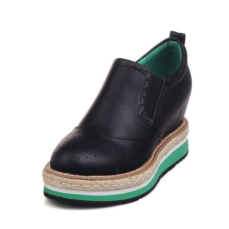 ELEISE美国艾蕾莎春季上新003-V122-1韩版松糕底女士乐福鞋