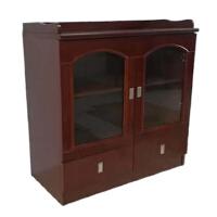 老詹家具 茶水柜 实木茶水柜 办公室茶水柜 LZMC-001