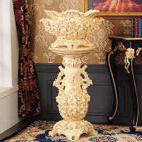 欧式落地客厅奢华大花瓶欧式落地大花瓶摆件陶瓷家居装饰品客厅电视柜干花插花大号高