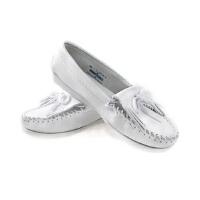 MINNETONKA 迷你唐卡 女士流苏平底小白鞋休闲单鞋平跟休闲鞋