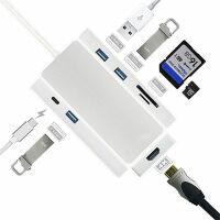 Type-c�P�本�U展�]USB-C�D�Q器�D接�^HDMI集�器USB�x卡器 �y色【HDMI+3��USB+�x卡器+PD】 其