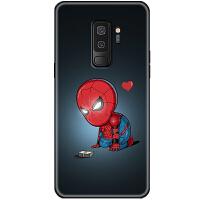 钢铁侠漫威英雄新版复联手机壳s8全包+硅胶软保护套plus男 三星s9 可爱蜘蛛侠