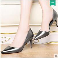 莫蕾蔻蕾浅口高跟鞋春季新款春天细跟尖头女鞋子性感百搭时尚单鞋6q321ML
