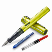 新品LAMY凌美 AL-Star恒星系列2016新款限量色充电绿电光绿F尖M尖钢笔 墨水笔 练字钢笔 书写工具 学生办公用墨水笔练字办公