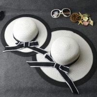 儿童小香风女童遮阳帽海边母女沙滩帽子韩版亲子帽太阳帽子