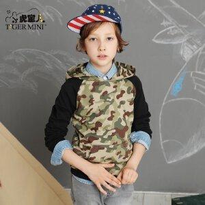 男童纯棉卫衣 儿童时尚防风迷彩上衣中大童运动秋装小虎宝儿童装