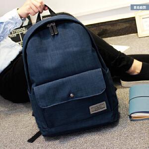 韩版双肩包女简约夏高中初中学生书包女潮休闲小清新学院电脑背包