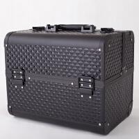 大号化妆箱化妆包化妆盒化妆工具箱纹绣箱美甲箱纹绣工具箱 铝合金化妆箱