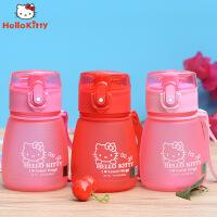 凯蒂猫儿童塑料杯子可爱女水杯小学生耐摔个性迷你韩版便携随行壶