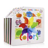 支持小火箭小达人点读:开展大图系列4册精装启蒙认知英文原版绘本Look Speak learn colors/numbe