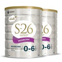 【1段】澳洲直邮/保税区 Wyeth惠氏 金装S26 新西兰婴幼儿配方奶粉 一段(0-6月)  900g*2罐 海外购