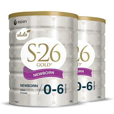 【1段】保税区发货 澳洲Wyeth惠氏 金装S26 新西兰婴幼儿配方奶粉 一段(0-6月)  900g*2罐 海外购新老包装随 机发货