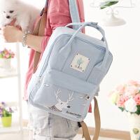 双肩包女书包中学生初中生少女心旅行背包