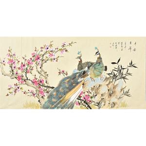 姜晓英四尺整张花鸟画gh02075