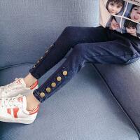 女童牛仔裤秋装洋气童装儿童大童紧身长裤子春秋季潮