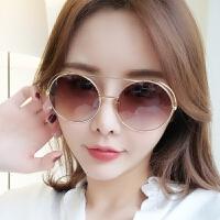 太阳镜女潮个性古力扎娜明星同款墨镜圆脸圆形网红眼镜