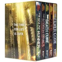 移动迷宫系列 全5册盒装 英文原版 The Maze Runner Series 烧痕审判 死亡解药 致命追捕 悬疑推理
