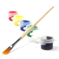 丙烯颜料2ml DIY上色涂鸦颜料 快干6色连体手绘颜料儿童绘画