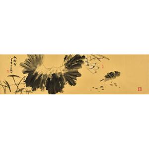 当代实力派画家 老铁《秋趣图》 119x34cm gh00900