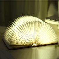 御目 台灯 LED折叠翻页书本灯USB充电小夜灯卧室床头灯 创意礼品