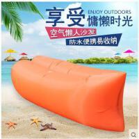 加厚防爆舒适柔软便携式沙滩床户外充气床沙发懒人床垫空气午休睡袋床