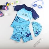 婴幼儿童泳衣韩国宝宝分体三件套装男孩小大男童防晒速干泳裤泳装 海上旅行