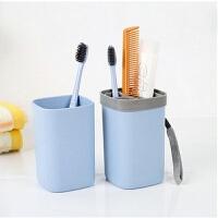 旅行洗漱杯牙刷牙膏收纳套装盒便携洗漱包旅游用品情侣漱口杯
