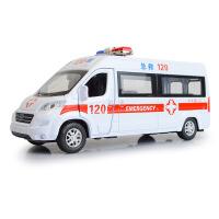 嘉业 仿真合金邮政 顺丰速递 救护车模型 带声光回力