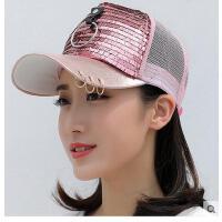 帽韩版潮百搭棒球帽学生时尚亮帽子女夏天遮阳片太阳帽鸭舌帽户外 可礼品卡支付