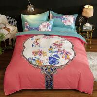床上用品四件套 纯棉全棉磨毛被套床单 2.0米四件套被套200*230 床单250*