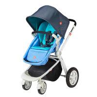 gb好孩子GB08-W婴儿推车高景观四轮避震宝宝手推车可躺可坐折叠蓝色GB08-W-P116BB