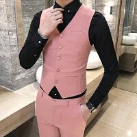 �l型��春秋款男士西�b�R甲�n版修身背心英���士西服青年外套�R�A