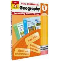 Evan-Moor Skill Sharpeners Geography Grade 1 小学一年级地理练习册 美国加