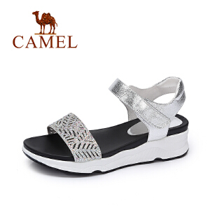 camel骆驼女鞋 夏季新品时尚镂空凉鞋 韩版甜美水钻凉鞋