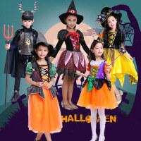 万圣节儿童服装女童蝙蝠吸血鬼巫婆魔法师装扮小女巫化妆舞会演出