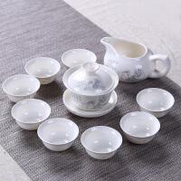 结婚回礼礼品青瓷茶具套装定制logo生日寿宴*回礼伴手礼实用 银茶圣 7件