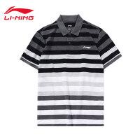 李宁短袖POLO衫男士新款运动生活系列翻领短装夏季运动服APLM295