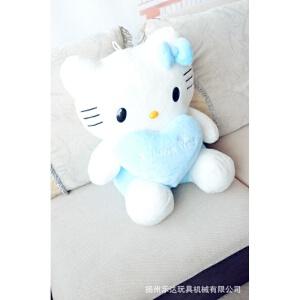 维莱 正品爱心HelloKitty 凯蒂猫 KT猫公仔大号毛绒玩具生日礼品 粉色 35CM