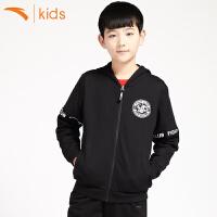 安踏男童外套中大童上衣2018新款儿童服装学生装连帽卫衣35718708
