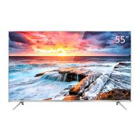 TCL 55A660U 55英寸4K金属纤薄64位30核HDR智能LED液晶平板电视(银)
