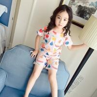 女童家居服夏季短袖套装儿童睡衣套装空调服薄款宝宝女孩子