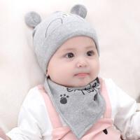 婴儿帽子秋冬0-3-6-12个月男女宝宝帽子初生保暖新生儿帽子胎帽冬