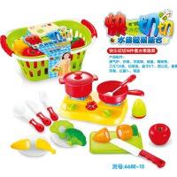 儿童水果蔬菜切切乐拼装切切看厨房小女孩做饭玩具过家家玩具套装