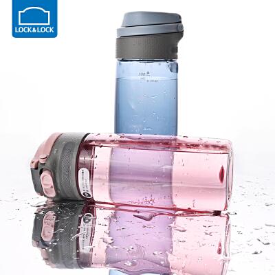 乐扣乐扣塑料水杯便携健身随手杯户外大容量水壶男女750ml/550ml 隐藏式提手 trian材质