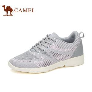 骆驼牌女鞋 2017春季新款拼色运动休闲鞋轻质跑步鞋时尚单鞋