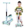 【满199立减100】儿童滑板车2-3-6-12岁三轮四轮闪光可折叠涂鸦小孩摇摆车 可调节滑滑车