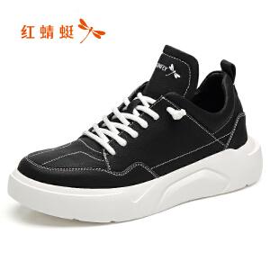 红蜻蜓男鞋2019春季新款时尚板鞋韩版厚底运动休闲鞋网红跑步鞋潮板鞋C0191398