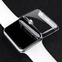 全屏4代保护壳超薄苹果手表watch3/2透明保护套水晶壳