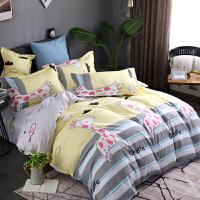 床上用品网红款三四件套棉纯棉卡通儿童男女孩学生宿舍套组合
