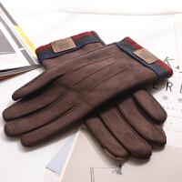 韩版时尚手套男士春秋冬季保暖分指单层骑车防滑防风触屏 均码